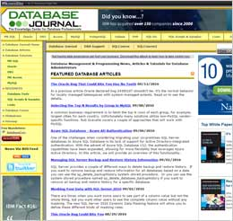 Preview of Database Journal