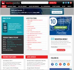 Preview of Webopedia